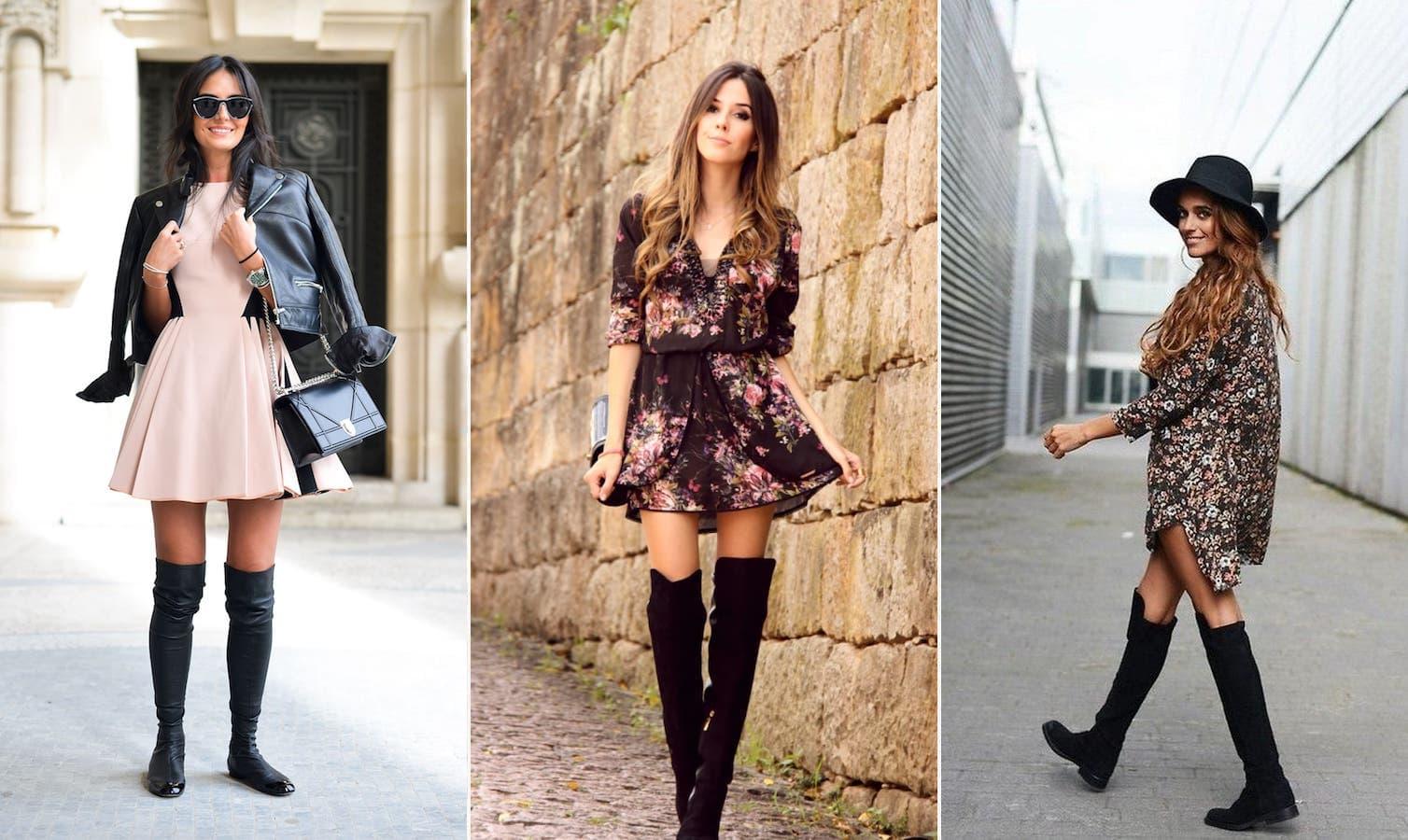 Какие платье одевать под сапоги в 2019 году: 7 идей