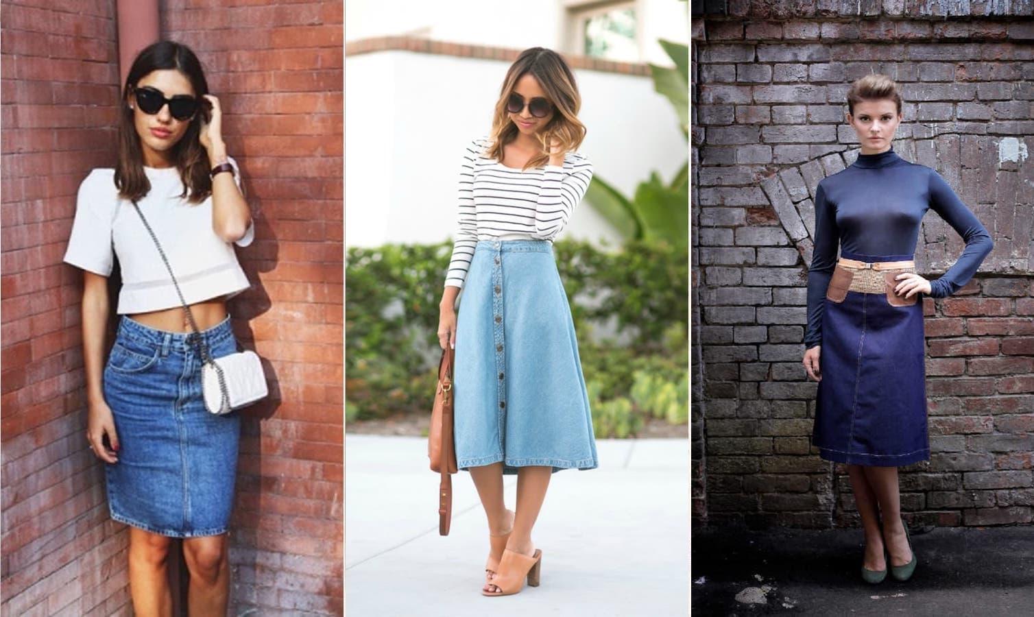 Под что одеть джинсовую юбку в 2019 году: 9 лучших идей