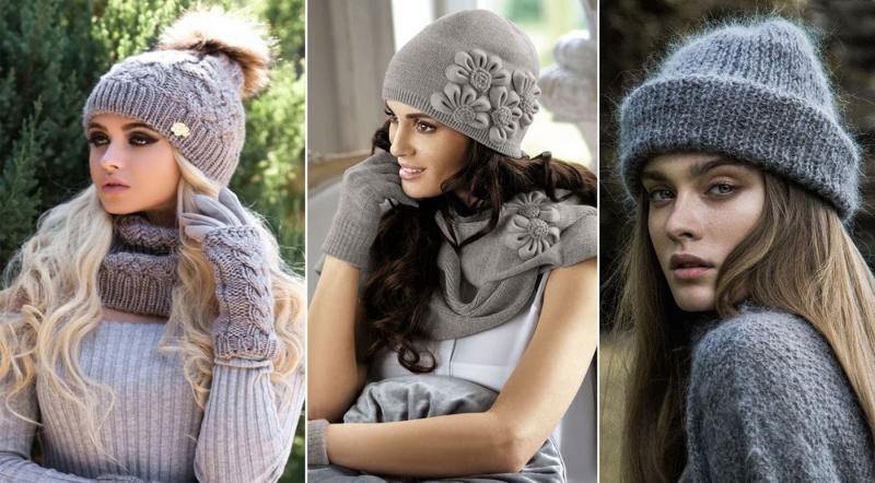 Модные вязанные шапки осень-зима 2018-2019