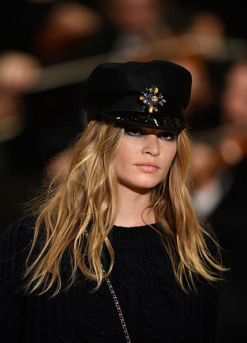 Модная черная шапка шапка - 7