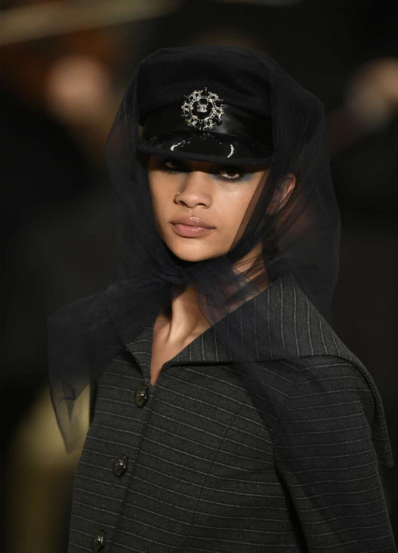 Модная черная шапка шапка - 8