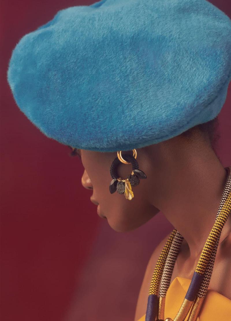 Модная голубая шапка шапка - 10