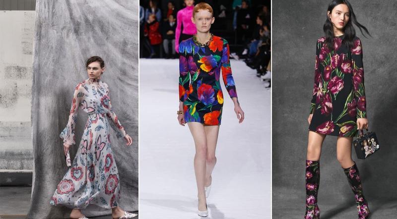 Мода 2019 - модный цветочный принт