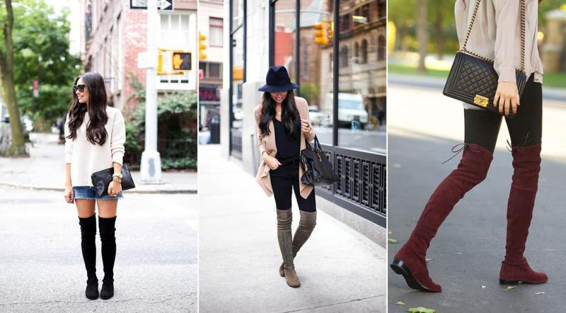 Модные сапоги без каблука осень-зима 2021-2022