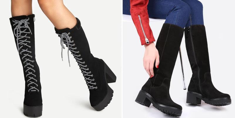 Модные сапоги на тракторной подошве осень-зима 2018-2019