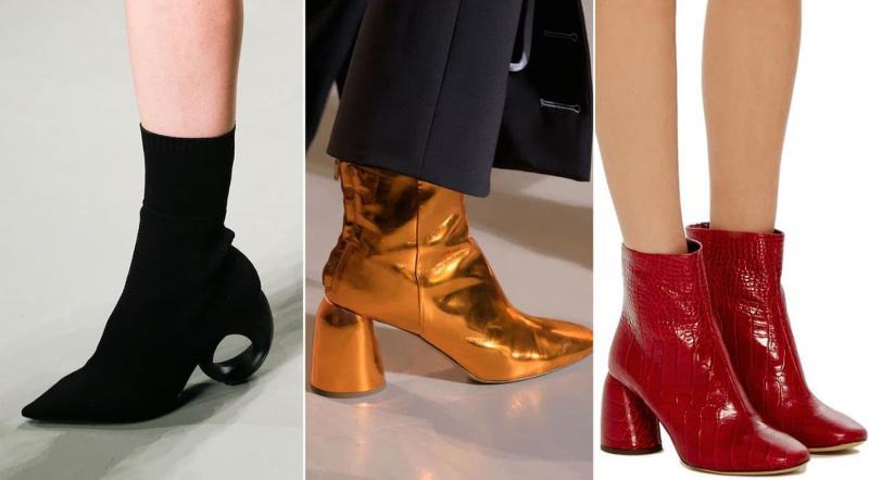 Модные сапоги с круглым каблуком осень-зима 2021-2022