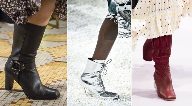 Модные сапоги с квадратным носком осень-зима 2021-2022