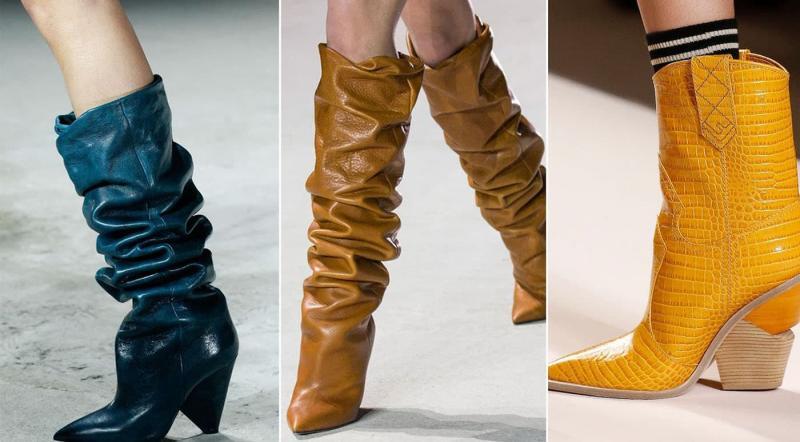 Модные сапоги с острым носком и каблуком осень-зима 2021-2022