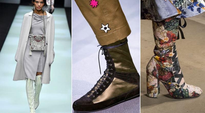 Модные сапоги со шнуровкой осень-зима 2018-2019