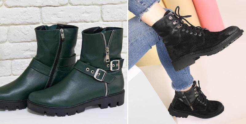 Модные сапоги в стиле милитари осень-зима 2021-2022