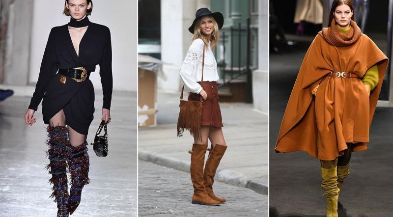 Модные высокие сапоги осень-зима 2018-2019