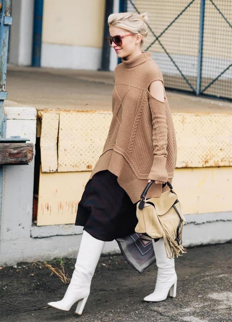 Модные белые сапоги - фото 8