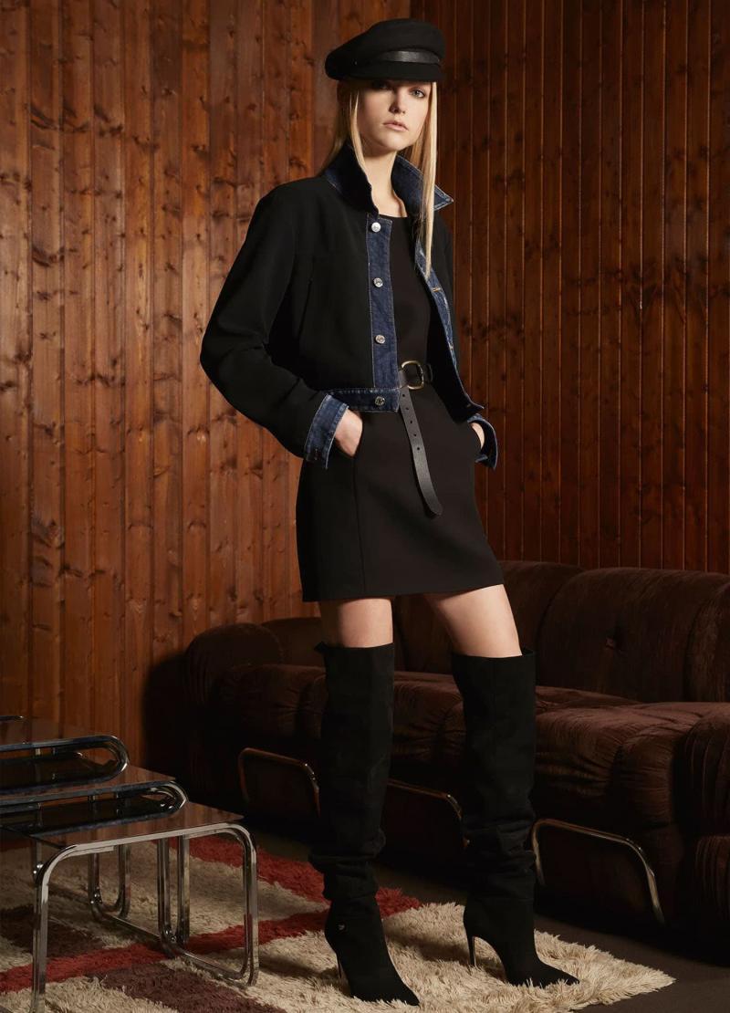 Модные черные сапоги - фото 9