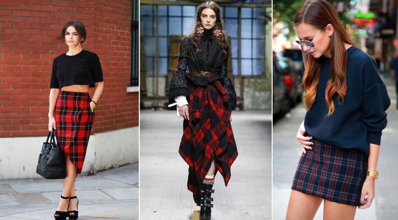 Модные кожаные юбки осень-зима 2018-2019
