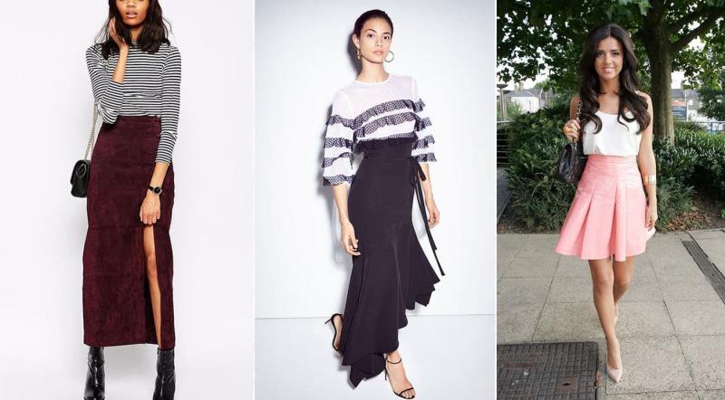 Модные юбки с максимально высокой талией осень-зима 2018-2019