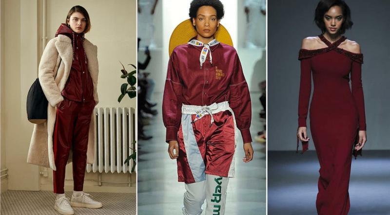 Модные цвета одежды осень-зима 2018-2019 - Красная груша
