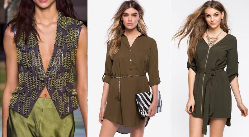 Модные цвета одежды осень-зима 2018-2019 - Оливка для мартини