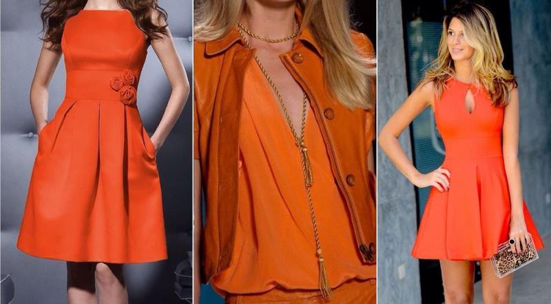 Модные цвета одежды осень-зима 2018-2019 - Рыжий апельсин