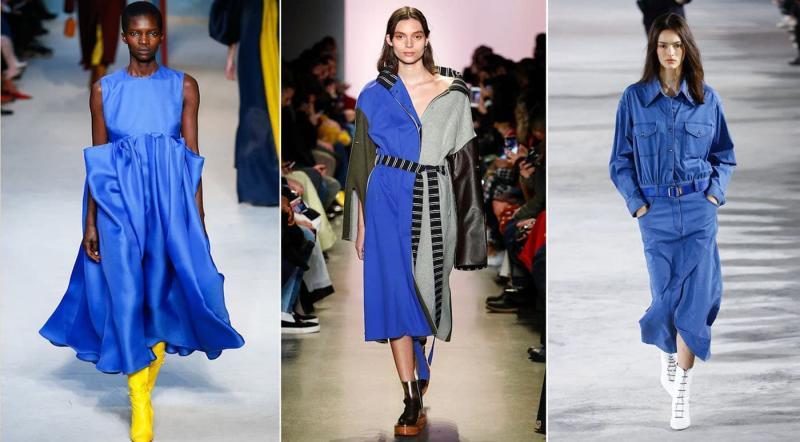 Модные цвета одежды осень-зима 2018-2019 - Туманно-синий