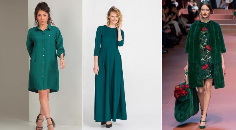 Модные цвета одежды осень-зима 2018-2019 - Зеленый кетцаль