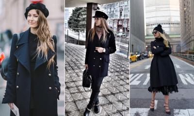 Какую шапку выбрать под черное пальто в 2019 году: 7 идей